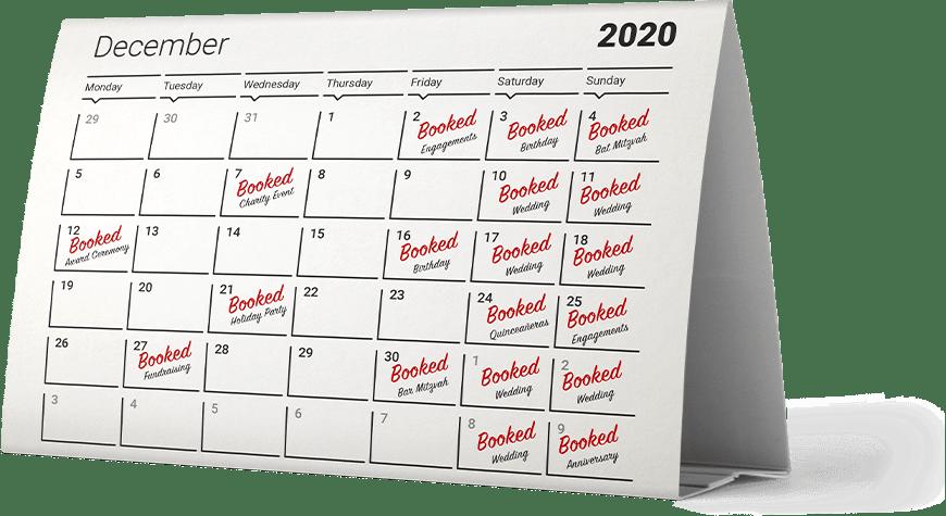 Alecan Marketing - Event Venue Industry - Booking Calendar
