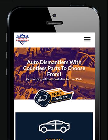 American Dismantling - Mobile Website
