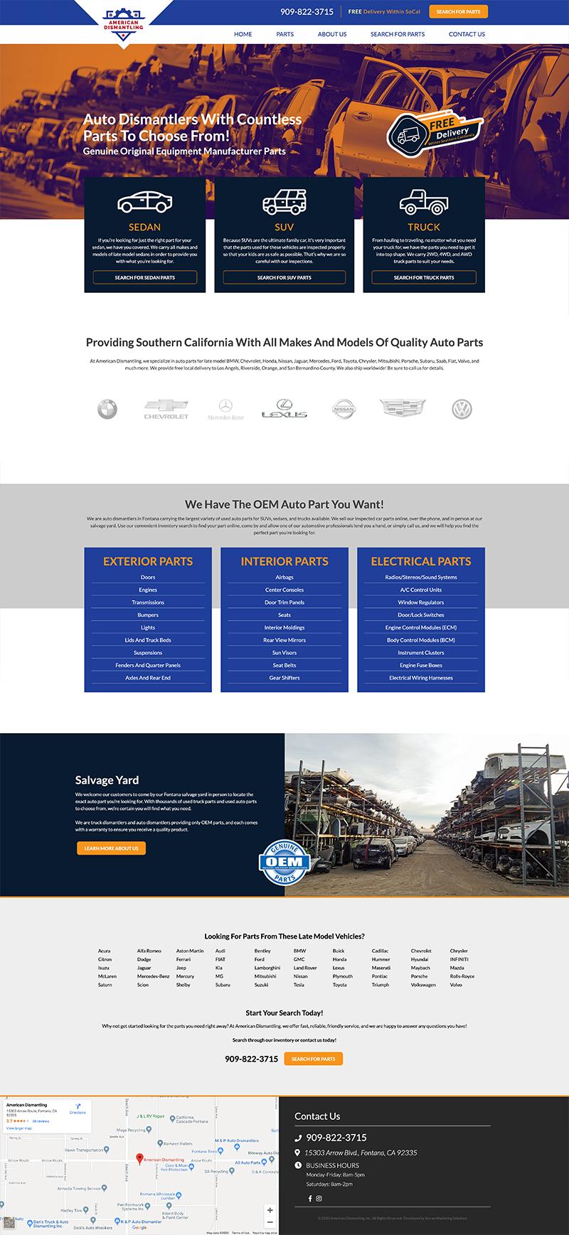 American Dismantling - Website