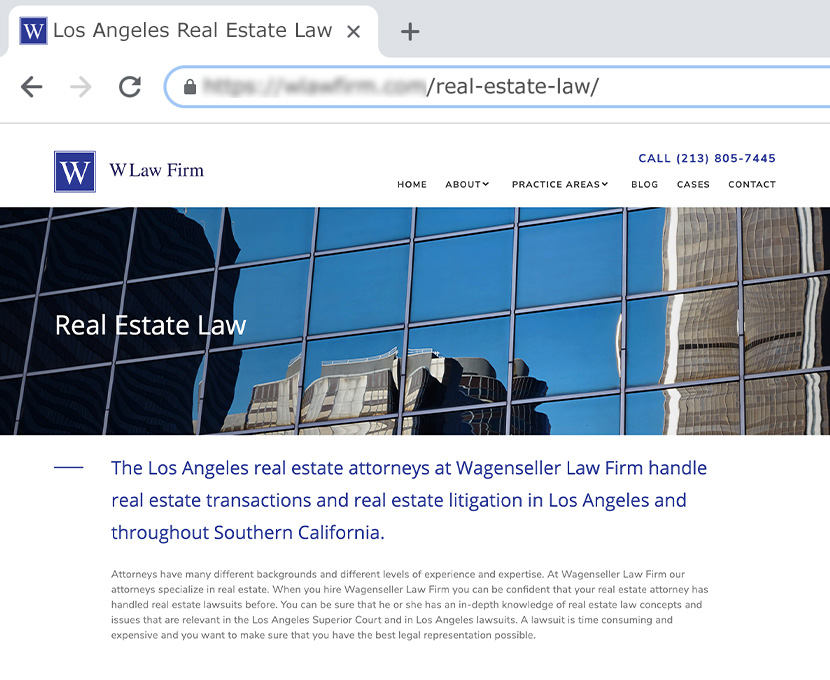 Specialized Page For Real State Law