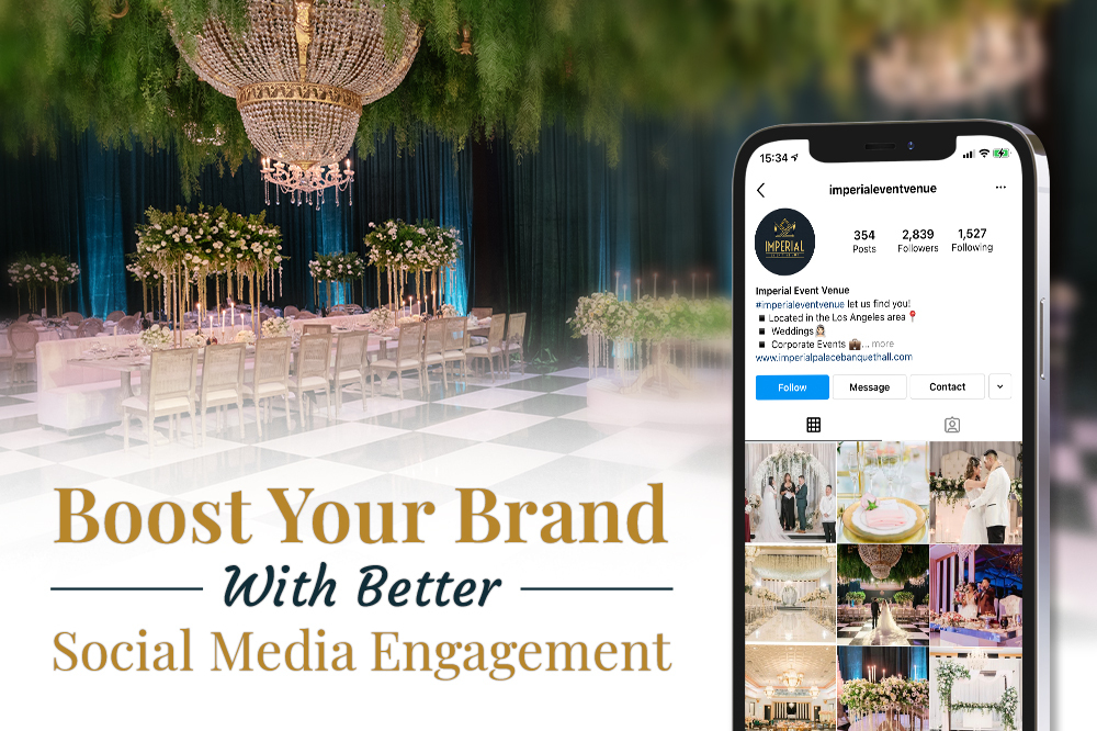 how to increase social media engagement for your wedding venue
