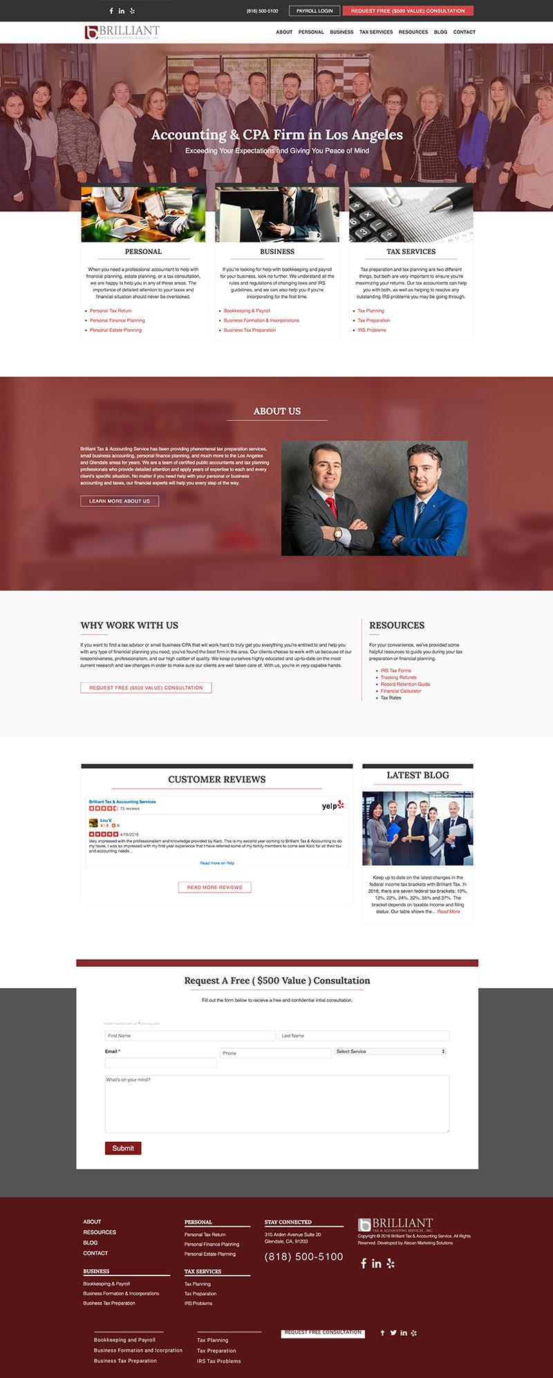 Brilliant Tax - Website
