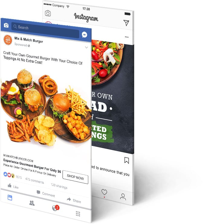 Paid Social Ads Marketing for Mix & Match Burger