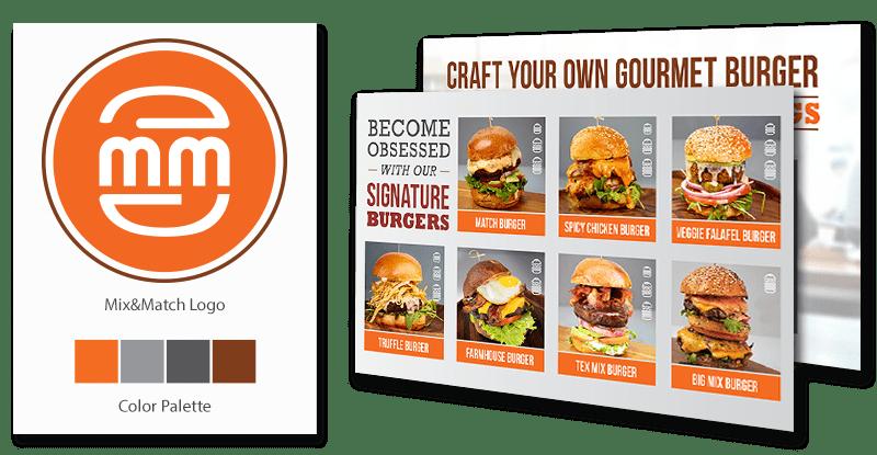 Mix & Match Burger Branding