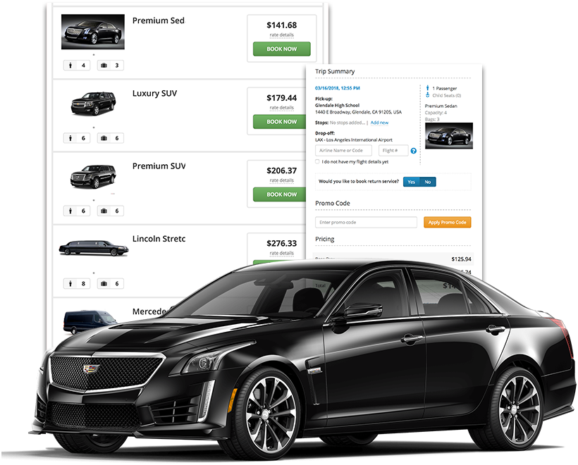 Executive Car Service Website Booking Engine