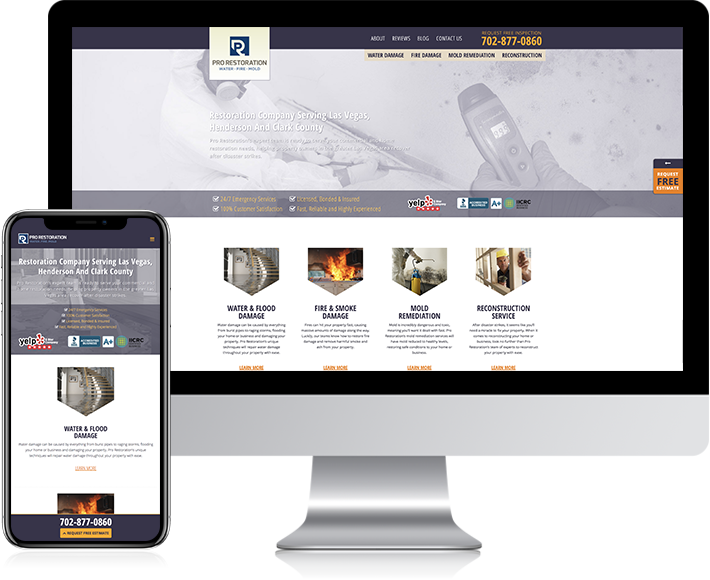 Pro Restoration Case Study Showcase -Website ReDesign