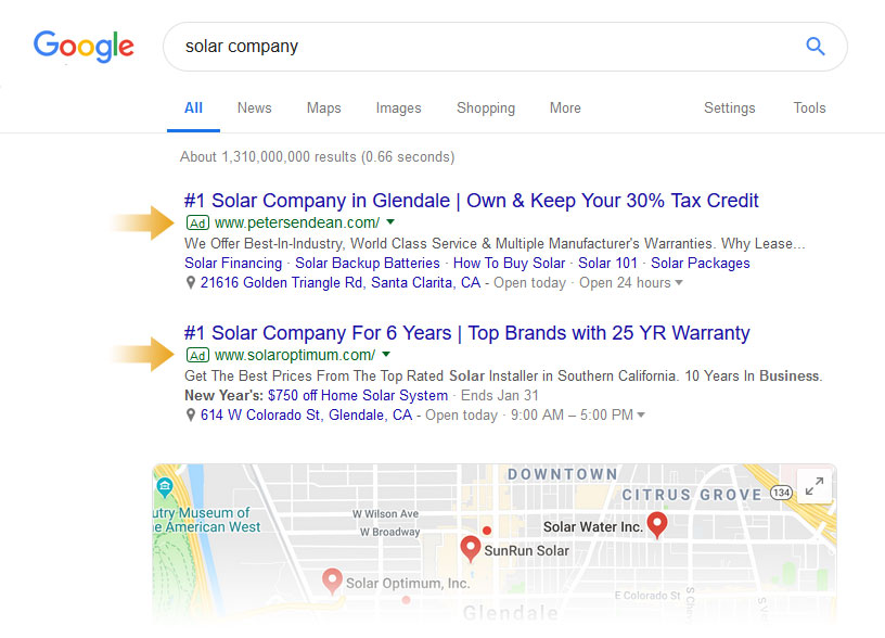 Google Paid Search Ads