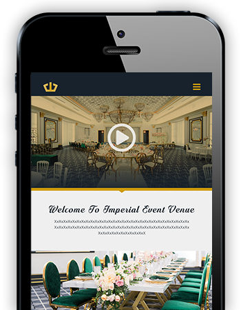 Mobile Responsive Web Development - Imperial Event Venue