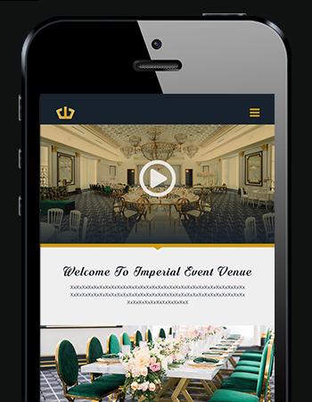 Mobile Responsive Web Development - Imperial Event Venue