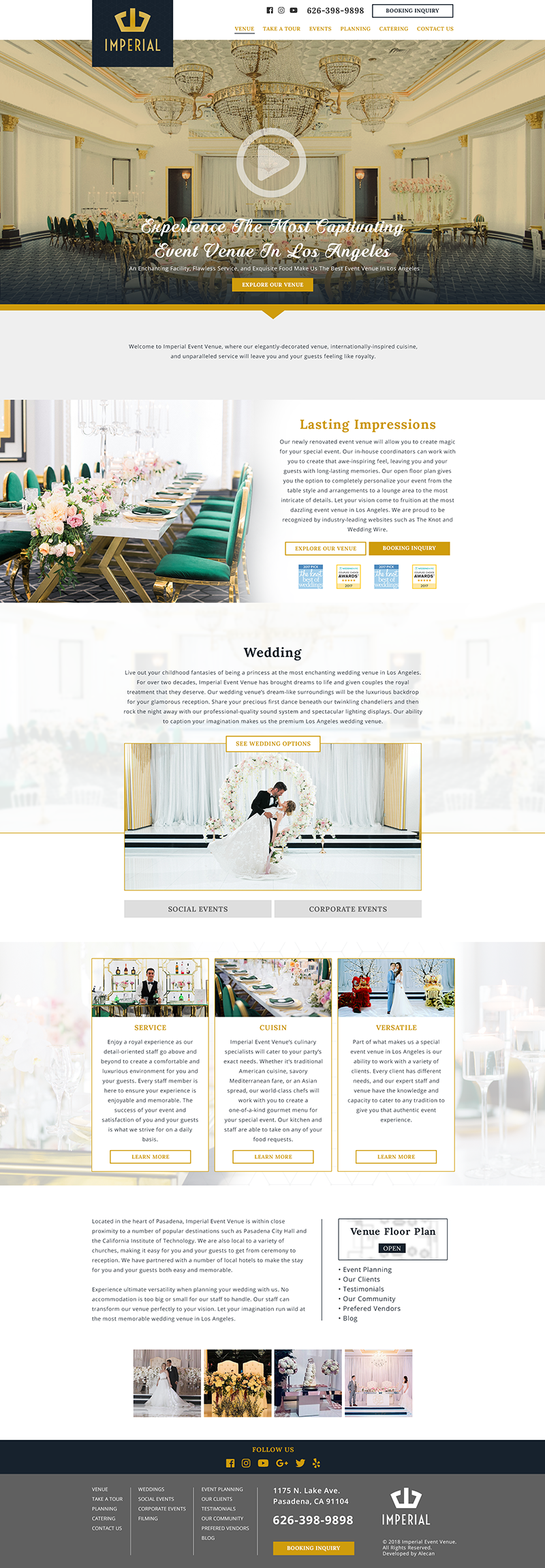 Web Development - Imperial Event Venue