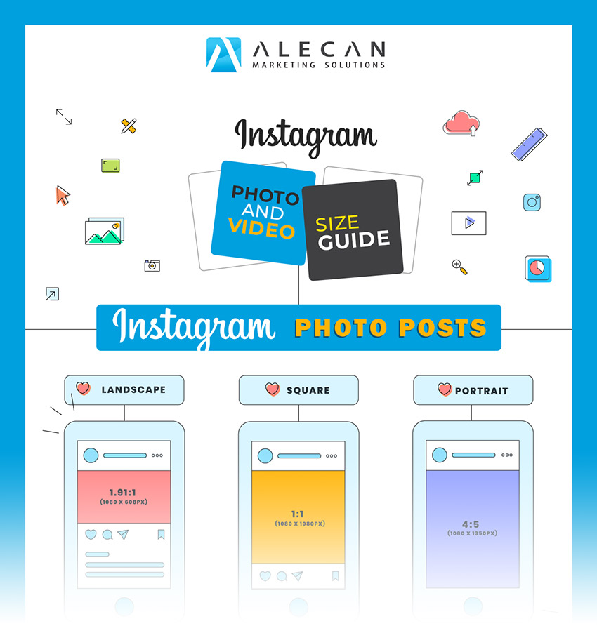 Instagram Photo and Video Dimensions Infographics