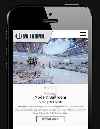 Mobile Responsive Web Development - Metropol Banquet Hall