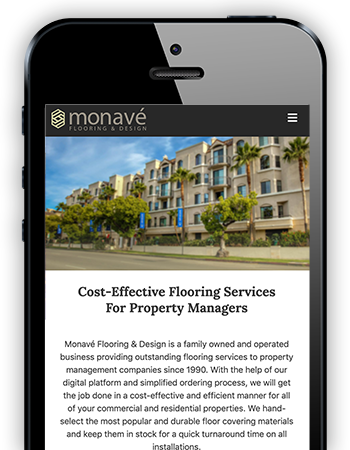 Monave Flooring - Mobile Website