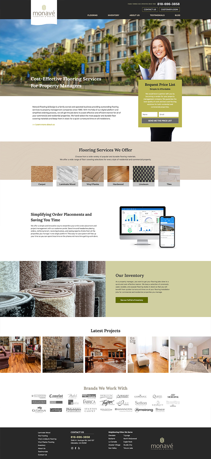 Monave Flooring - Website