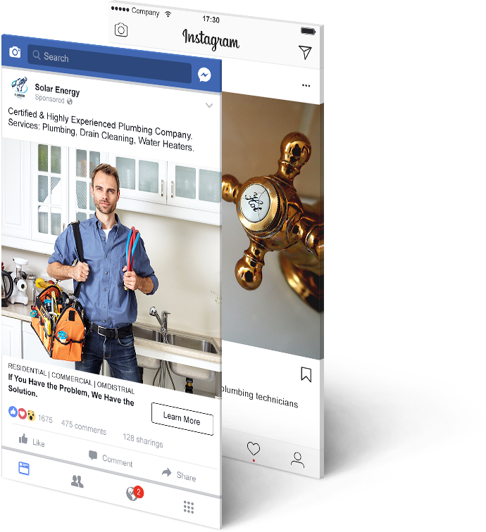 Alecan Marketing - Plumbing Service Industry - Facebook Sample Ads