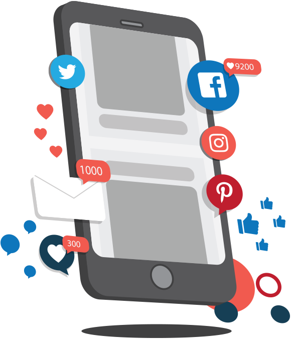 Social Media Apps on Mobile