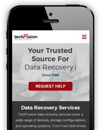 TechFusion - Mobile Website