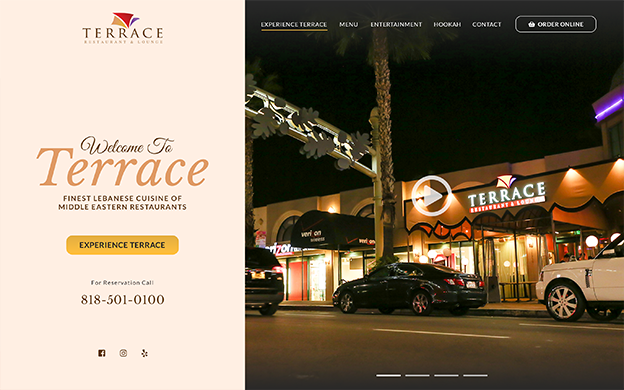 terrace restaurant and lounge - website
